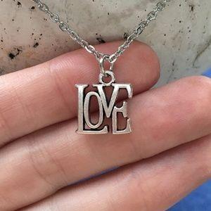 LOVE Necklace Tibetan Silver Handmade 4for$20